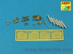 ABR35-L198 Armament for Vickers Medium Tank MK I OQF 3 pdr Vickers x1 pcs. 0.303 Vickers x2pcs. (Hobby Boss)