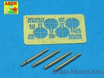 ABRA32-008 Set of 4 barrels for German Oerlikon 20mm aircraft machine guns MG FF with sights