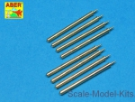 ABRA32-109 Set of 8 turned cal .50 (12,7mm) U.S. Browning M2 barrels for P-47 Thunderbolt