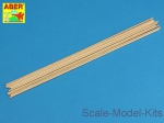 ABRWR-2 Wood round rods 2mm length 250mm x 10 pcs