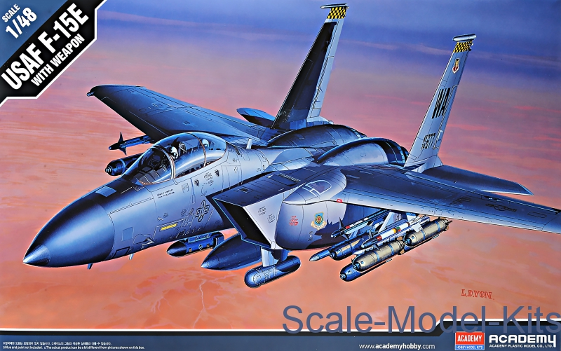 Fighter F-15E Strike Eagle with weapons