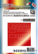 AF-AC35012 Sticker for simulating anti reflection coating lens suitable for M1A1/M1A2 Abrams