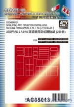 AF-AC35013 Sticker for simulating anti reflection coating lens suitable for Leapard 2 A5/A6, Tamiya kit