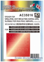 AF-AC35016 Sticker for simulating anti reflection coating lens suitable for M1A1/M1A2 Abrams
