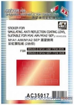 AF-AC35017 Sticker for simulating anti reflection coating lens suitable for M1A1 AIM / M1A2 SEP