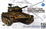 AF35S84 Light Tank M24 Chaffee the First Indochina War