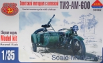 AIM35002 TIZ-AM-600 Soviet motorcycle with sidecar