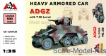 AMG35506 Heavy Armored Car ADGZ with T-26 turret (field mod)