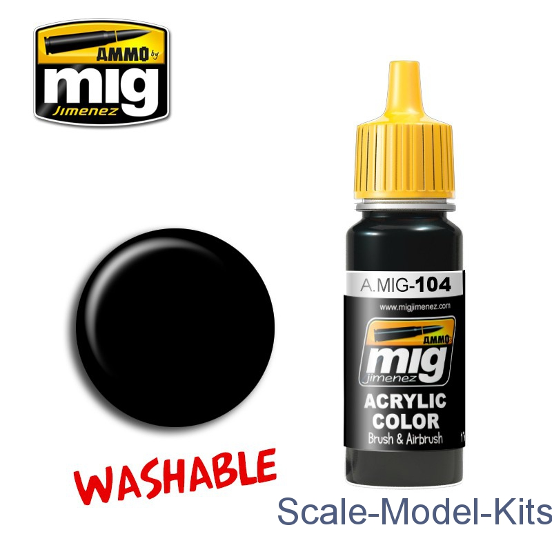 Washable black A-MIG-0104