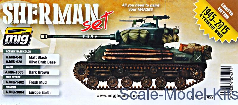 MIG (AMMO) - Weathering set: Fury Sherman set A-MIG-7427