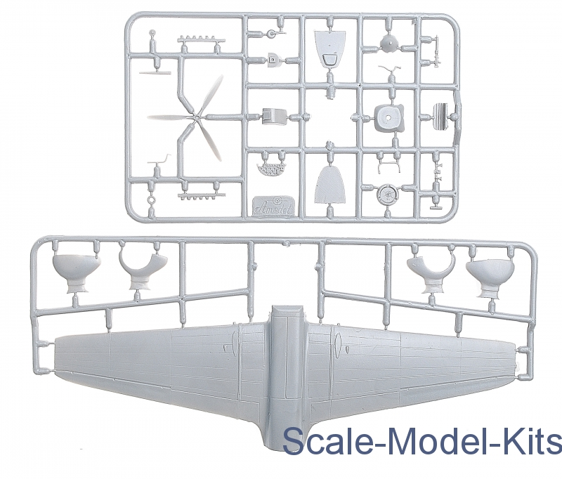 Ki-32 'Mary', Grey-Amodel Plastic Scale Model Kit In 1:72
