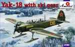 Trainer aircraft / Sport: Yak-18 with ski gear, Amodel, Scale 1:72