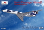 Civil aviation: Tupolev Tu-134 LOT airlines, Amodel, Scale 1:72
