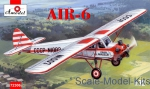 Civil aviation: AIR-6 light civil aircraft, Amodel, Scale 1:72