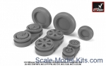 AR-AW32010 Mikoyan MiG-21 Fishbed wheels w/ weighted tires, mid