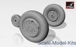 Detailing set: Yakovlev Yak-141 Freestyle wheels, Armory, Scale 1:72