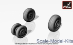 AR-AW72037 Mikoyan MiG-29A/B/UB Fulcrum weighted wheels, early