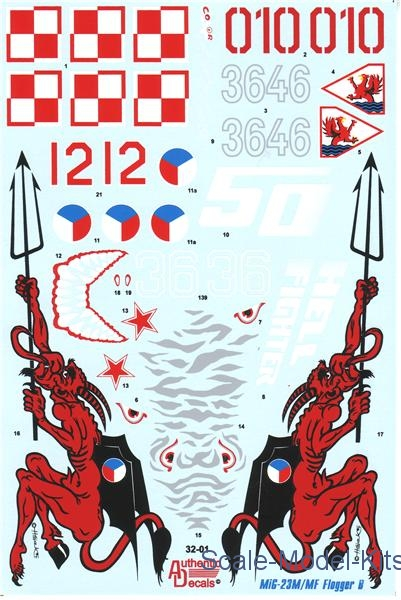 Decal for MiG-23 M/MF Flogger B