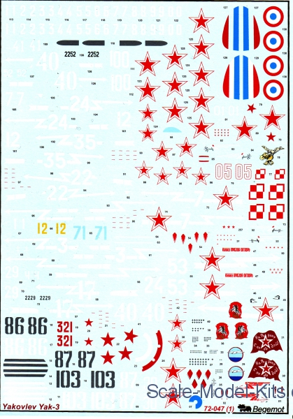 Decal for Yakovlev Yak-3 family