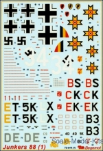 BD72010 Decal for Junkers Ju-88, part 1