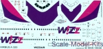 BOA-14439 Decal 1/144 for Airbus A-320 (Wizzair)