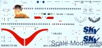 BOA-14462 Decals for Boeing 737-300 Sky Europe (Muriel)