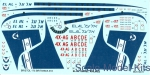 BOA-14472 Decals for Bristol 175 Britannia 318 (Israel)