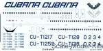 BOA-14483 Decals for Ilyushin IL-62M Cubana