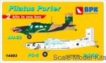 BPK14403 Pilatus Porter PC-6 & Au-23 (2 sets in the box), set 1