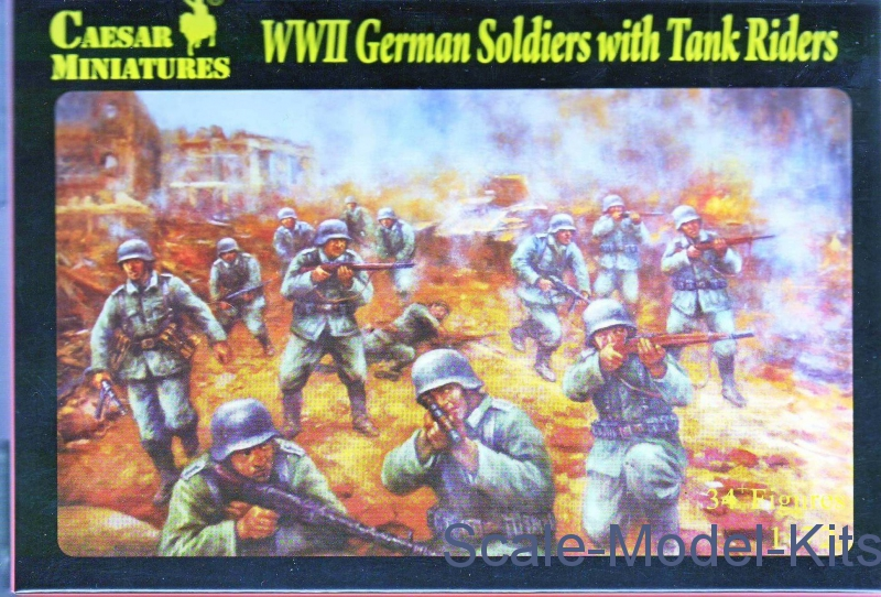 1/72 Caesar Miniatures H077 - WWII German Soldiers with Tank Riders