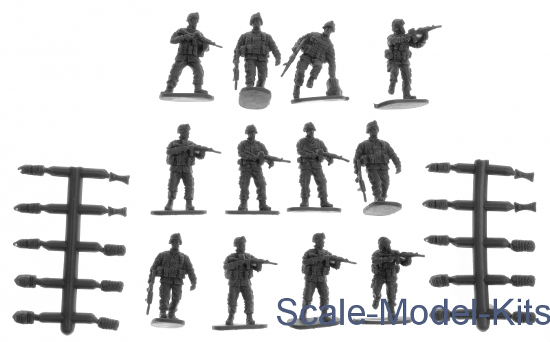 Modern US Soldiers in Action-Caesar Miniatures plastic scale