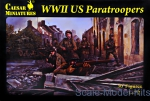 WWII other: WWII US Paratroopers, Caesar Miniatures, Scale 1:72