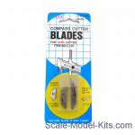 Compass knife razor blades 12 pcs
