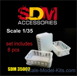 DAN-SDM35002 Accessories for diorama. Plastic crates