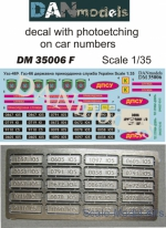 DAN35006F Decal with photoetching on car numbers: UAZ-469, Gaz-66, State Border Service of Ukraine