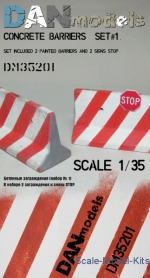 Other structures: 1/35 DAN Models 35201 - Concrete barriers (set 1), DAN Models, Scale 1:35