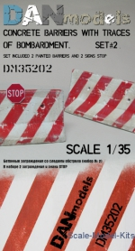 Other structures: 1/35 DAN Models 35202 - Concrete barriers with traces of fire (set number 2), DAN Models, Scale 1:35