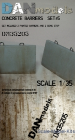 Other structures: Concrete barriers (set 5), DAN Models, Scale 1:35