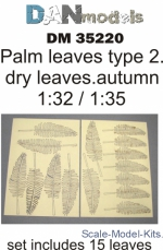 DAN35220 Palm leaves, type 2, yellow (dry leaves. autumn)