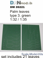 DAN35221 Palm leaves type #3, Green