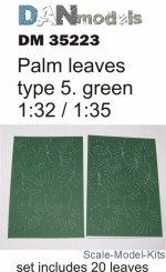 DAN35223 Palm leaves type #5, Green