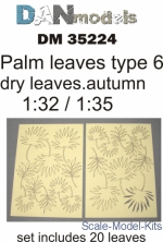 DAN35224 Palm leaves, type 6, yellow (dry leaves. autumn)