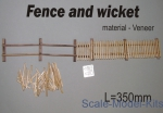 DAN35231 Fence and wicket, material - Veneer