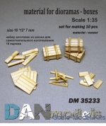 DAN35233 Material for dioramas - boxes, 10 pcs