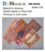 DAN35239 Material for dioramas.Gobelin tapestry on Real Cloth.Painting on both sides