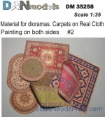 DAN35258 Material for dioramas. Carpets on Real Cloth. Painting on both sides #2