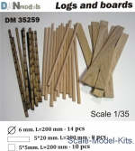 Logs and boards for dioramas #2