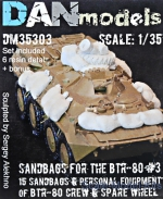 DAN35303 Sandbags for the BTR-80 (15 sandbags, personal equipment of BTR-80 and spare wheels)