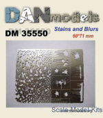 DAN35550 Photoetched: Stencil for applying traces spatters and stains