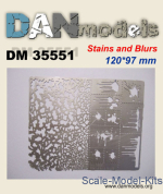 DAN35551 Photoetched: Stencil for applying traces spatters and stains #2